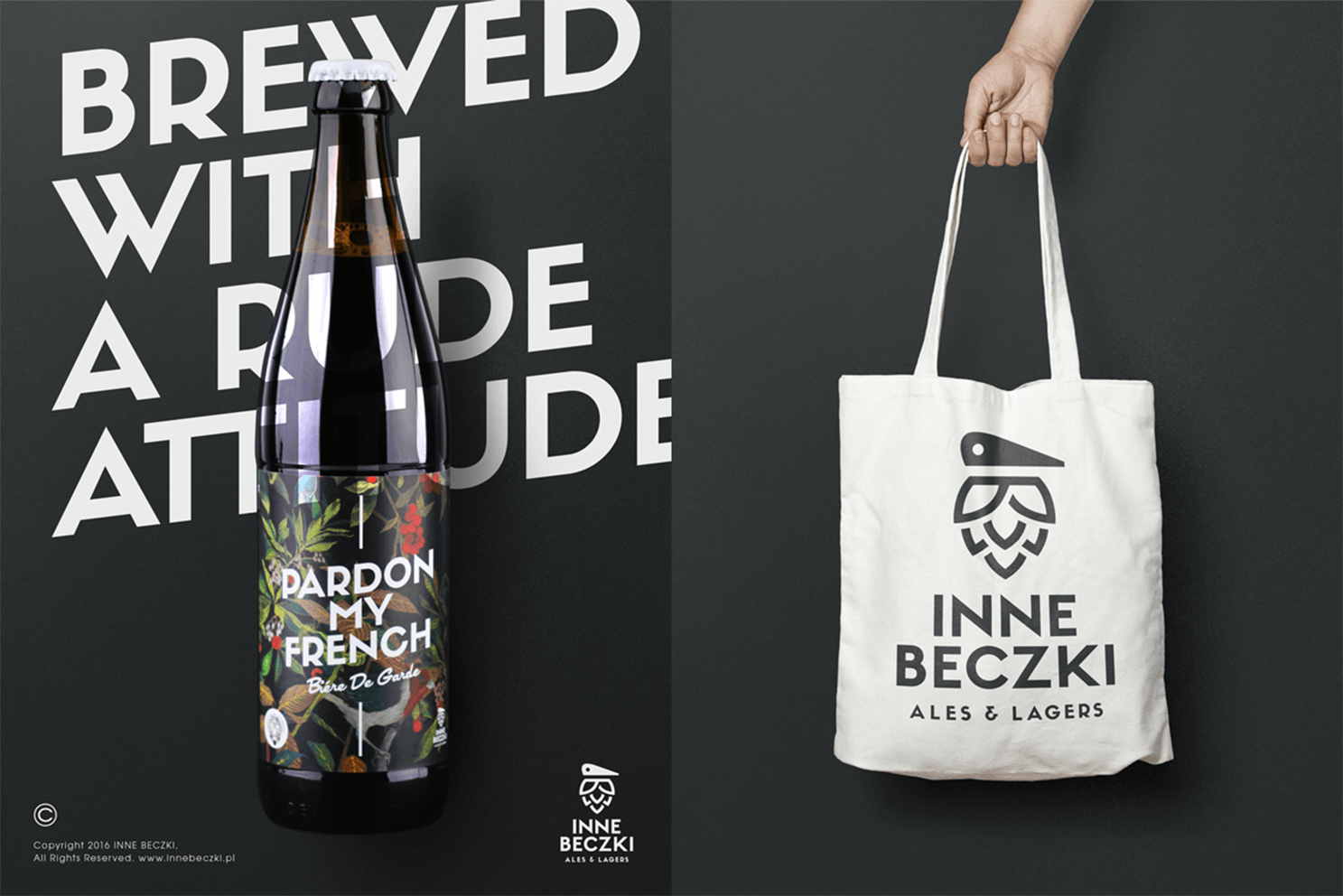 Redkroft. – brand design studio Inne Beczki – a logo design project that grew into a brewery.