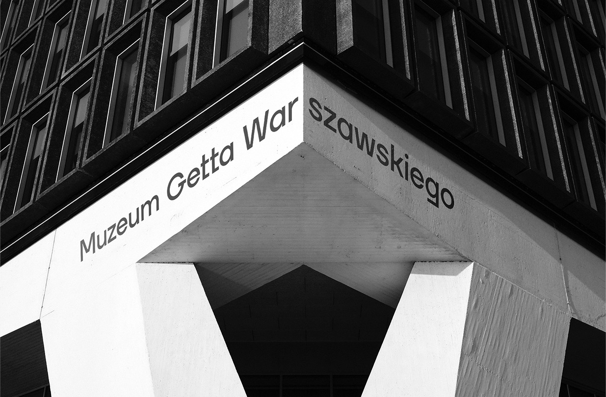 Redkroft. – brand design studio Warsaw Ghetto Museum – a visual tale of the torn city.